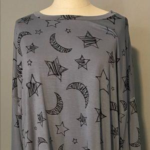 NWT woman's moon and star sweatshirt.